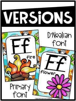 Safari Animals Alphabet Posters - Safari Classroom Decor