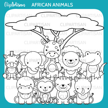 Safari Animals Clipart, Jungle Animals Clip Art