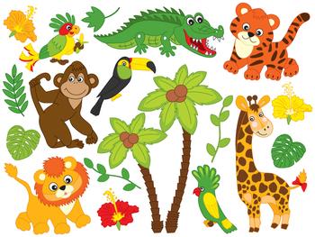 safari animals clipart digital vector african animals by the rh teacherspayteachers com baby safari animals clipart baby safari animals clipart