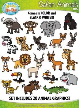 Safari Animals Clipart Set — Includes 40 Graphics!