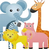Safari Animals Digital Clip Art -- Personal and Commercial Use
