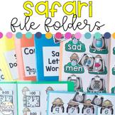 Safari Animals File Folders for Special Education