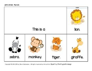 Safari Animals Flip Book (lowercase letters)