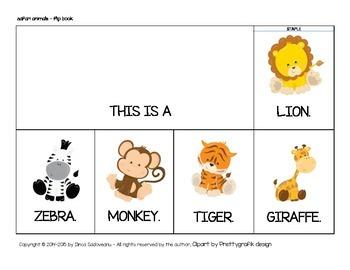 Safari Animals Flip Book (uppercase letters)