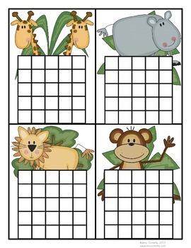 Safari Animals Incentive Charts - 8 Designs!