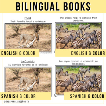 Safari Animals Non-Fiction Spanish Readers