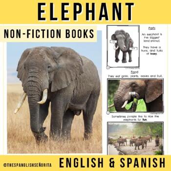 Safari Animals Non-Fiction Spanish Readers - El Elefante (The Elephant)