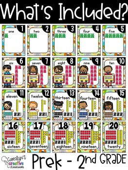 Safari Animals Number Posters - Safari Decor