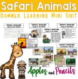 Safari Animals - Summer Learning Mini Unit