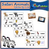 Safari Animals Syllables Clip Cards