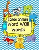 Safari Animals Word Wall {Kindergarten}