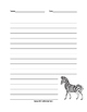 Safari Animals Writing Paper Set