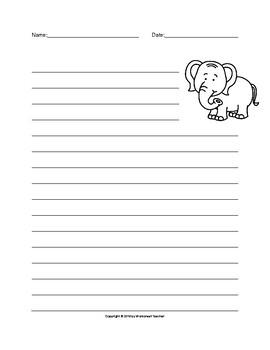 Safari Animals Writing Paper Set