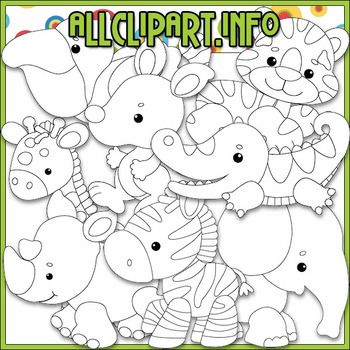 BUNDLED SET - Safari Babies Clip Art & Digital Stamp Bundle
