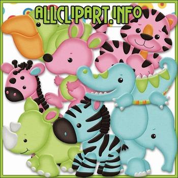 BUNDLED SET - Safari Babies Clip Art & Digital Stamp Bundle