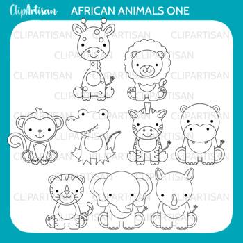 African Animals Clip Art, Safari Animals