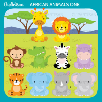 photo about Printable Safari Animals known as African Pets Clip Artwork, Safari Pets