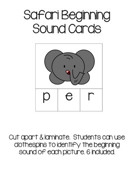 Safari Beginning Sound Cards