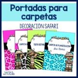 Safari Binder and Spine Covers / Portadas de carpetas  (texto editable)
