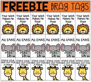 Safari Brag tags Freebie