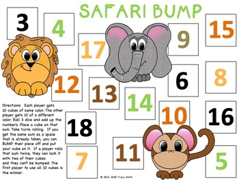 Safari Bump - Adding Three Numbers Together - FUN GAME!