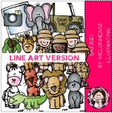 Safari clip art - LINE ART- by Melonheadz