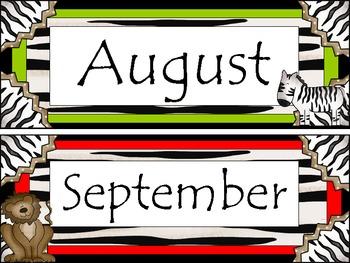 Safari Calendar