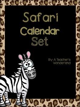 Safari Calendar Set