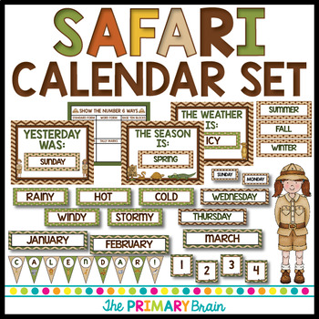 Safari Calendar Set Including Weather, Seasons, Daily Math and more!