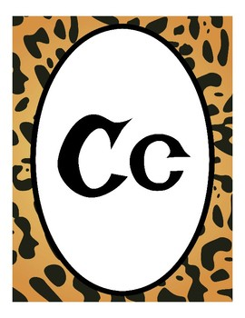 Safari, Cheetah Print, Jungle - Themed Alphabet Posters (Classroom Decor)