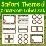 Safari Themed Classroom Label Set {Editable}