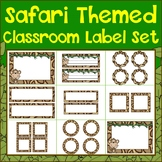 Safari Themed Classroom Label Set {Editable}