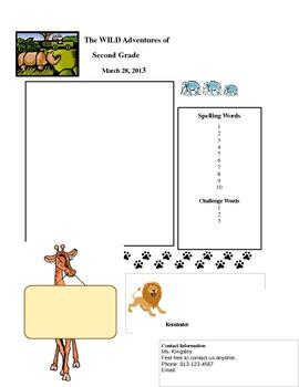 Safari Classroom Newsletter