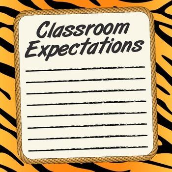 Safari Classroom Expectations Poster