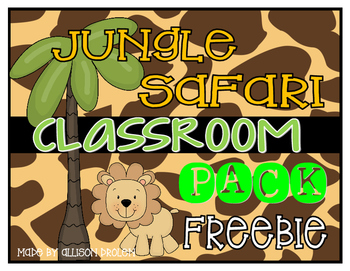 Safari Classroom Set Feebie