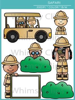 Kids Safari Clip Art