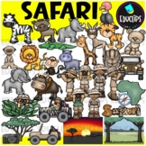 Safari Clip Art Bundle {Educlips Clipart}