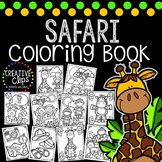 Safari Coloring Book {Made by Creative Clips Clipart}