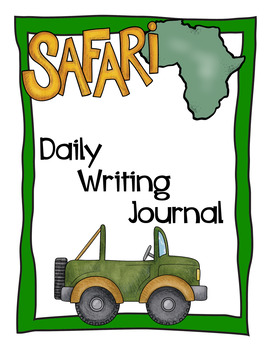 Safari / Jungle theme - Daily Writing Journal