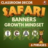 Safari Decor Growth Mindset Banners