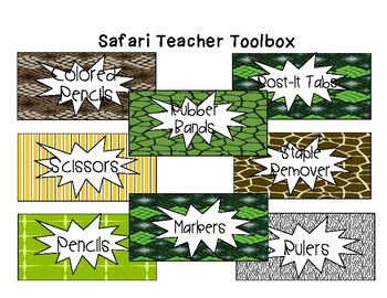 Safari Editable Teacher Toolbox