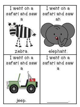 Safari Emergent Reader & Class Pattern Book