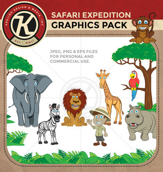 Safari Expedition - Digital Clipart Pack