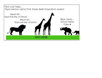 Safari Expedition Tickets & Tags