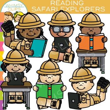 Safari Explorers Reading Clip Art