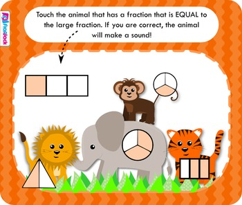 Safari Fractions Smart Board Game (CCSS.2.G.3)