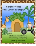 Safari Friends Find, Count, & Graph Math Activity - {Graphing} 6 Different Ones