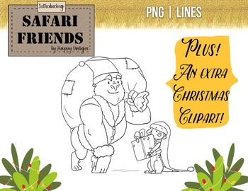 Safari Friends: It's Cold Outside! Original Christmas and Winter themed clip art