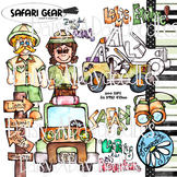 Safari Gear - Watercolor Clip Art