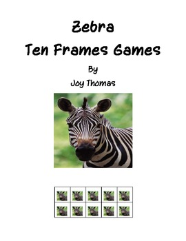 Safari Zebra Ten Frames Games